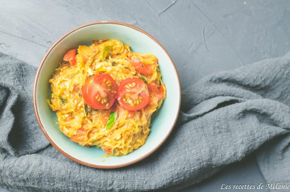 Des recettes minceur avec la courge spaghetti