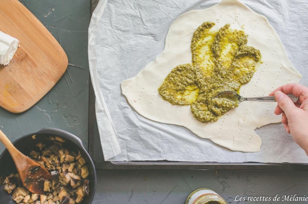Direction l'Italie: tarte pesto, aubergines et tout un tas d'autres bonnes choses