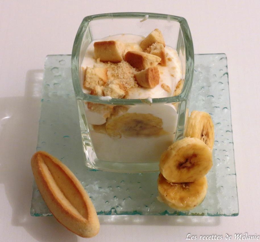 Verrines crémeuses banane et coco
