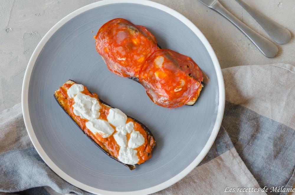 Bruschetta d'aubergine au chorizo