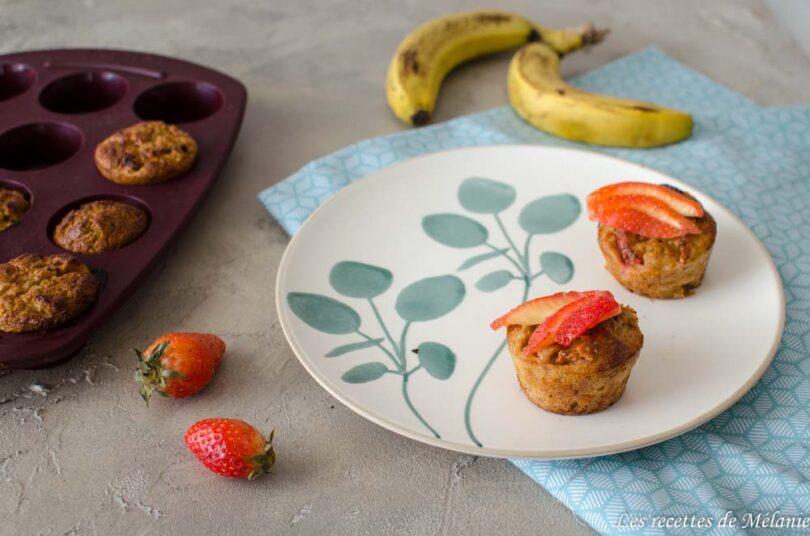 Muffins légers fraise/banane et quinoa ou comment se faire plaisir sans culpabiliser...