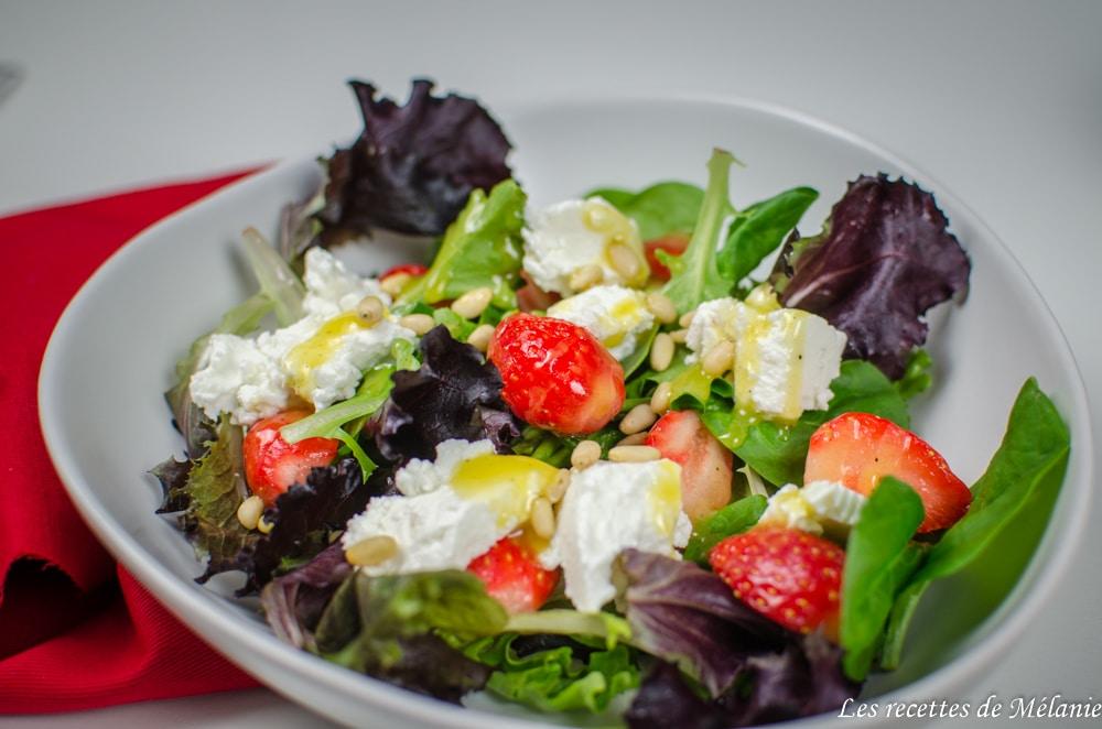 Salade fraise et épinards
