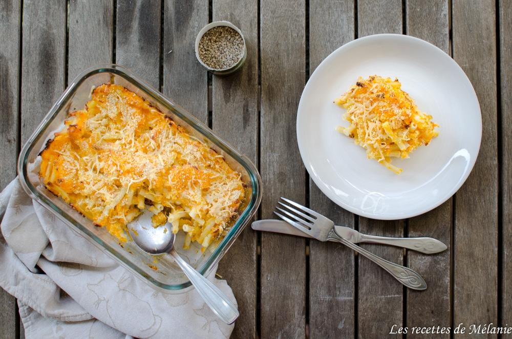 Macaronis à la courge butternut
