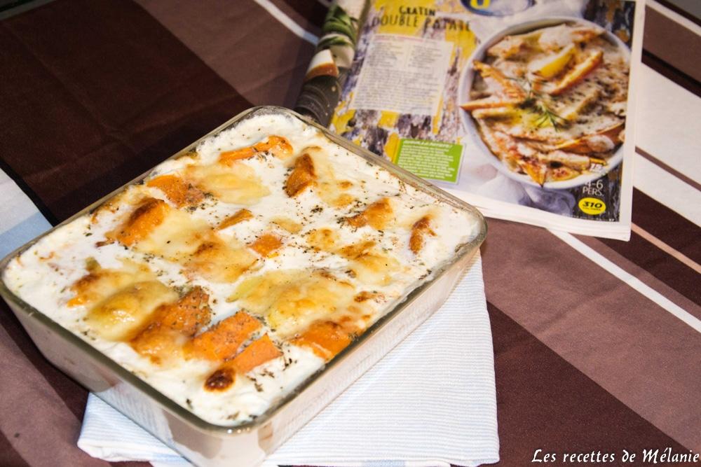 Gratin double patate de Vital food