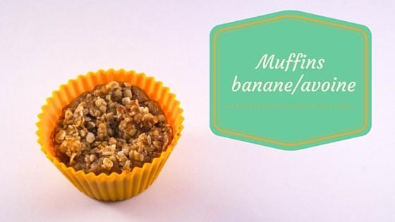 Muffin banane et flocons d'avoine