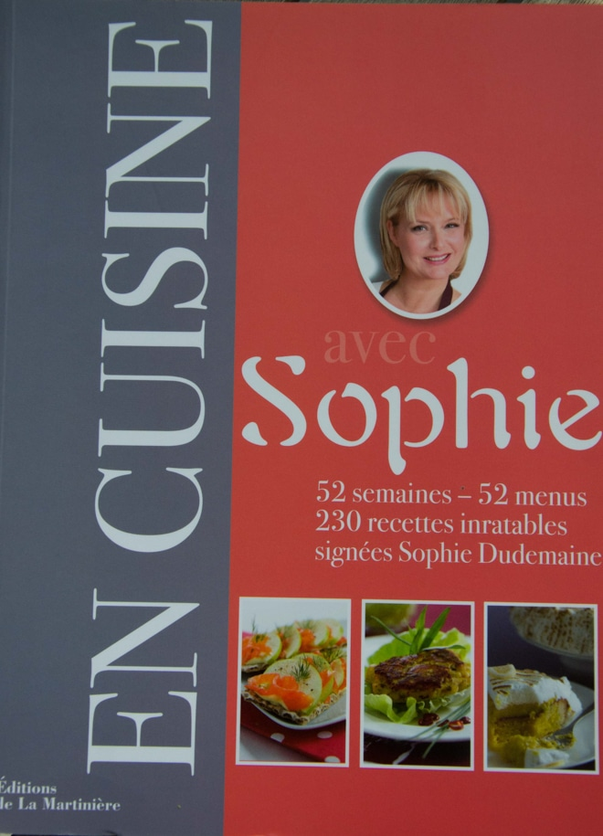 1 livre de cuisine 3 recettes: en cuisine avec Sophie