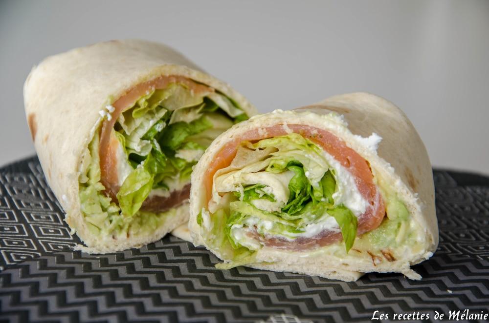 Wrap saumon chèvre