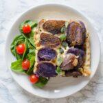 Tatin de pommes de terre violettes - Battle food #42