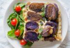 Tatin de pommes de terre violettes