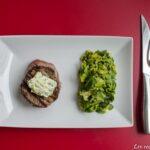 Tournedos grillé, beurre maitre d'hôtel et tagliatelles de courgettes