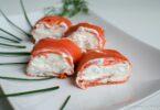 Roulés de saumon au chèvre et à la pomme