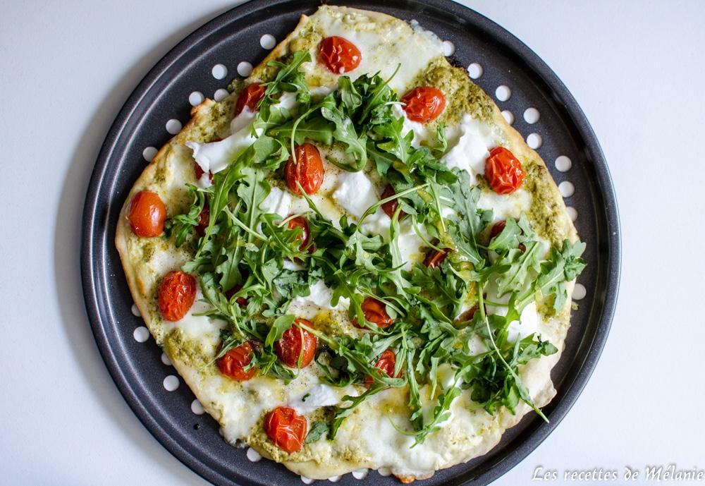 Pizza mozzarella/roquette/miel