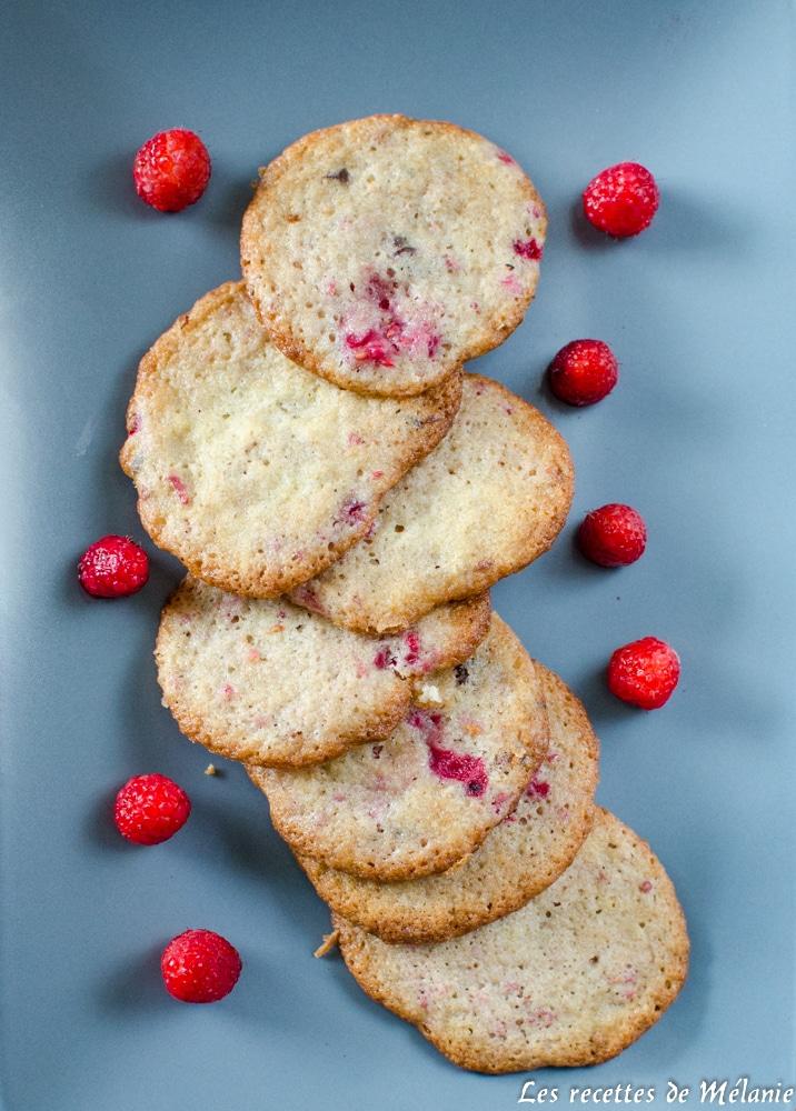 Cookies framboise et chocolat