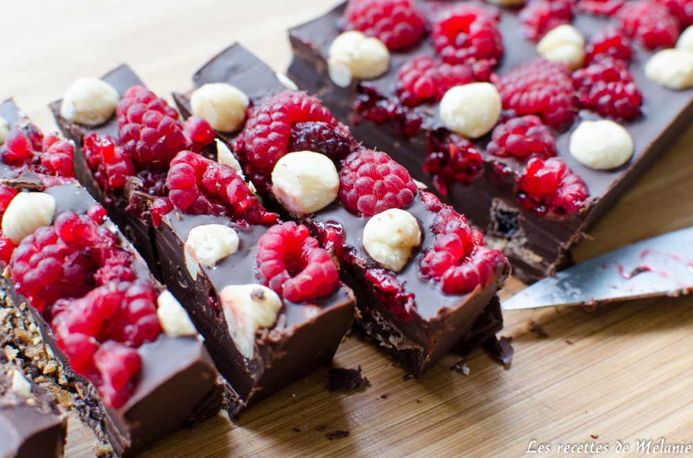 Barre-chocolatée aux framboises