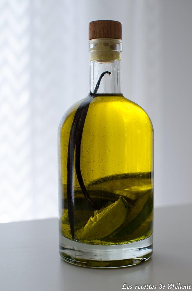 Huile d'olive parfumée à la vanille et au citron vert