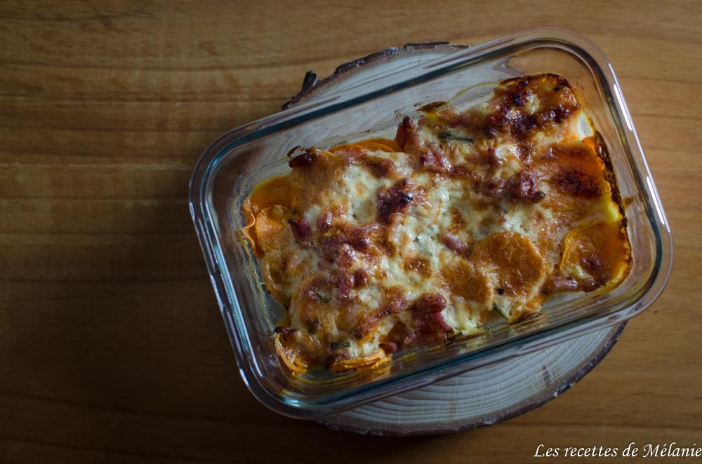 Gratin de patate douce au fromage