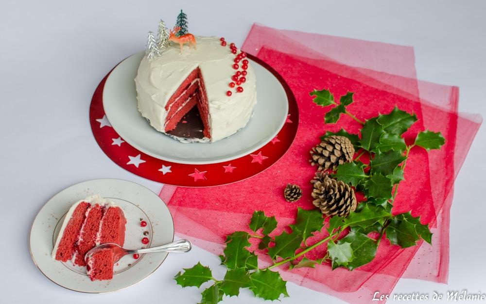Red Velvet Cake - Dessert de Noël