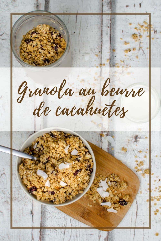 Une recette de granola gourmand avec du beurre de cacahuètes pour le petit-déjeuner ou en encas.