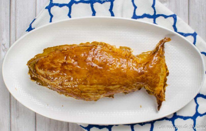 feuilleté à la patate douce, saumon fumé et chèvre frais