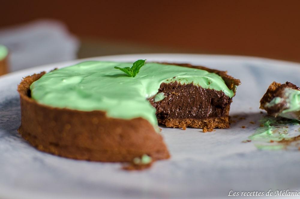 Tarte menthe chocolat comme un after eight