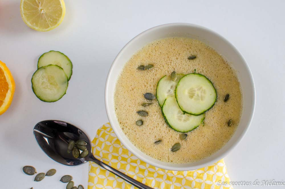 Gaspacho de concombre et agrumes