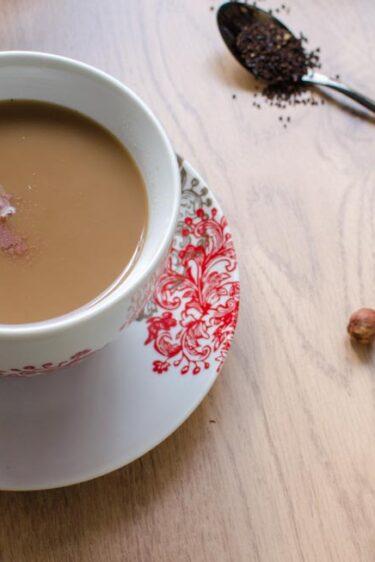 Chai latte à la noisette