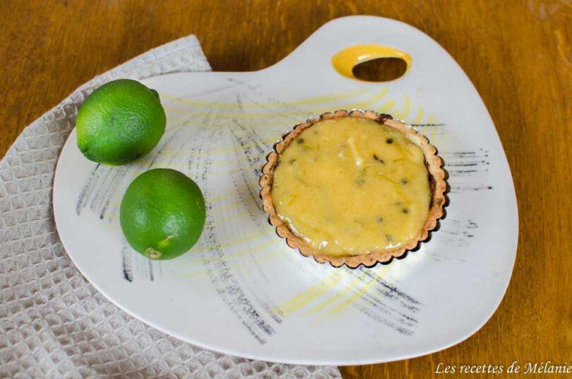 Tarte au citron vert et fruits de la passion