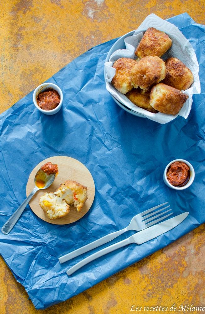 Arancinis aux poivrons et chorizo