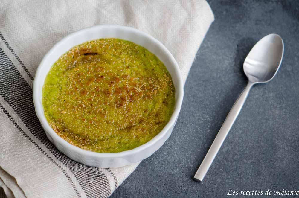 Crème brûlée aux asperges vertes