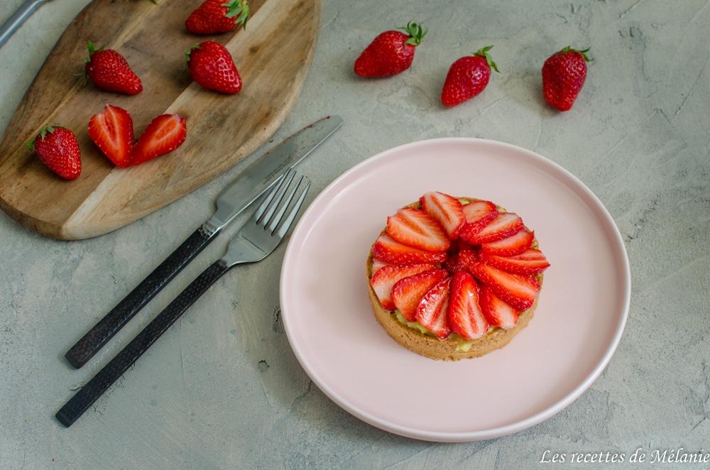 Tartelettes aux fraises et litchi