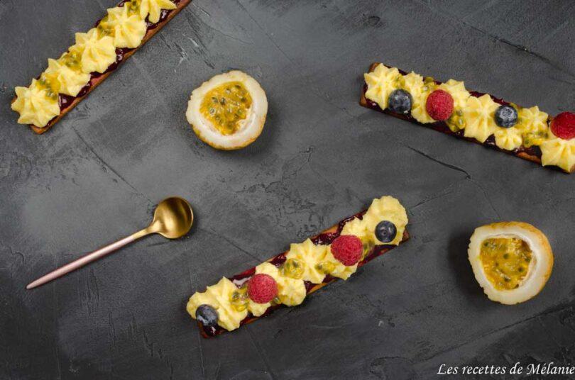 Tartelettes fruits rouges et passion