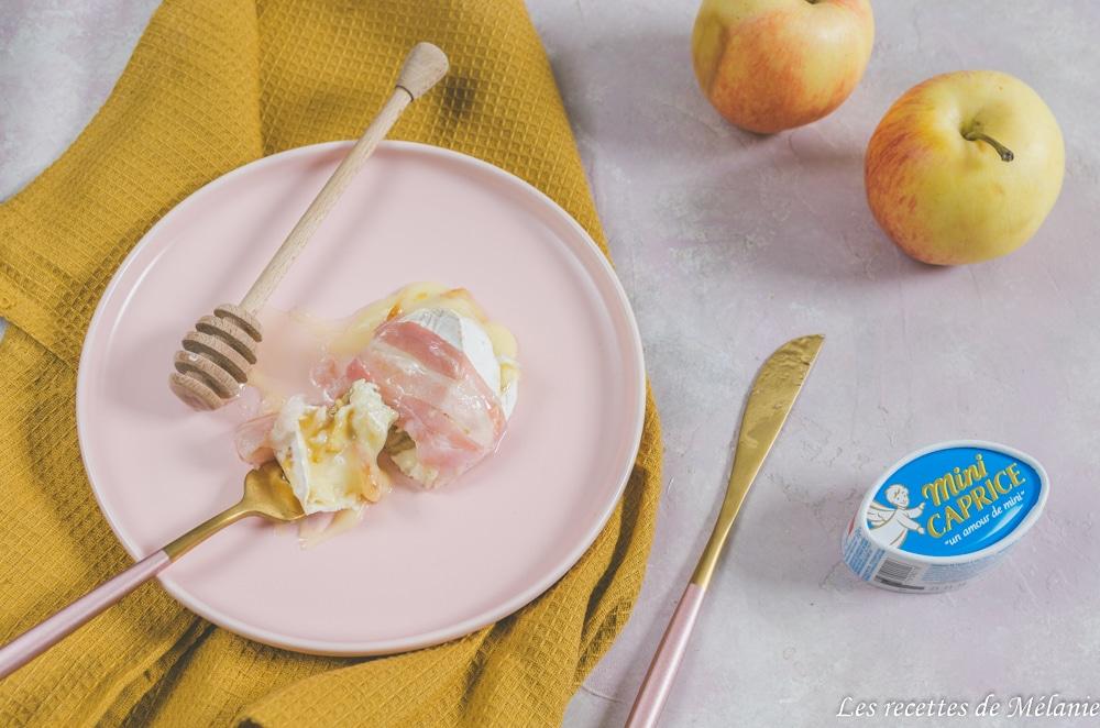 Mini caprices des Dieux aux pommes caramélisées, thym et bacon