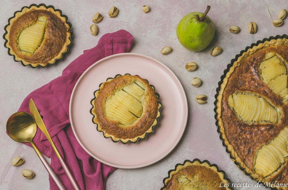 Tarte poire et pistache