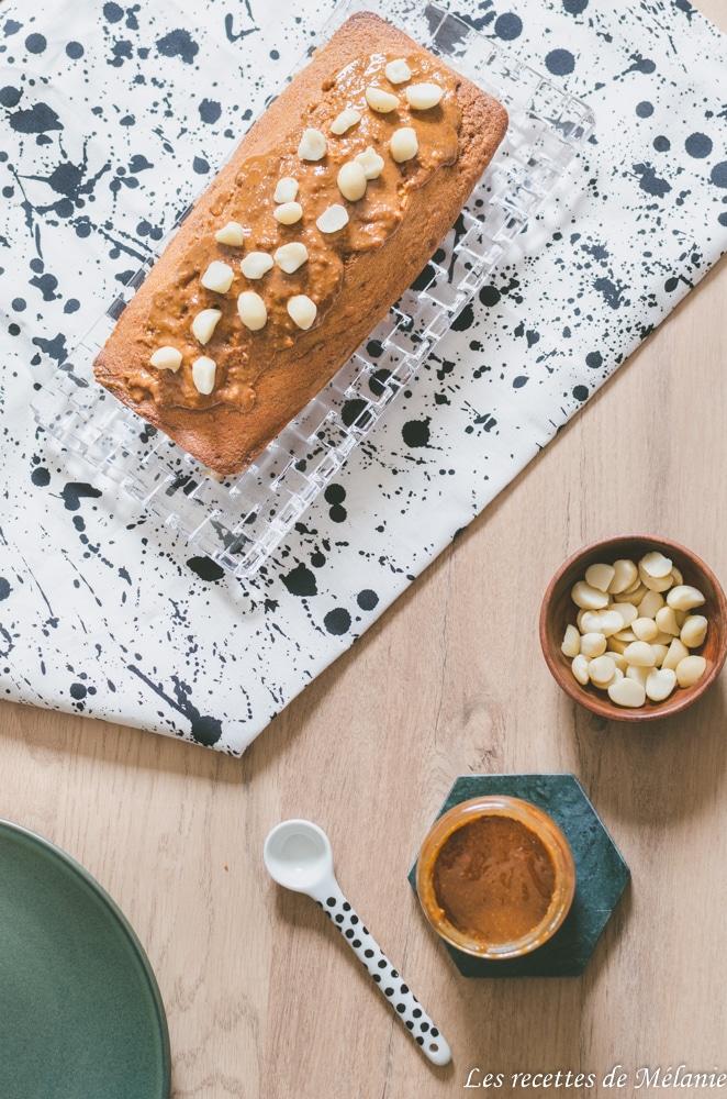 Cake au praliné aux noix de macadamia