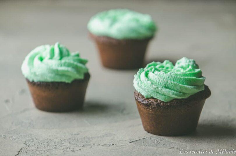 Cupcakes chocolat menthe pour la Saint-Patrick