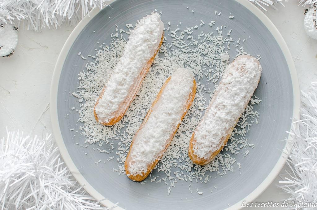 Éclairs à la noix de coco - dessert de Noël