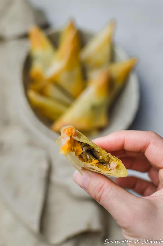 samossas patate douce foie gras