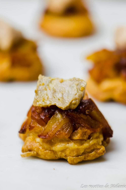 Mini-tatin pomme foie gras