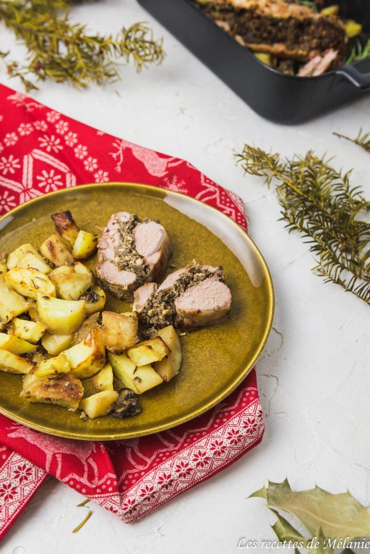 Plat de Noël: filet mignon farci aux champignons
