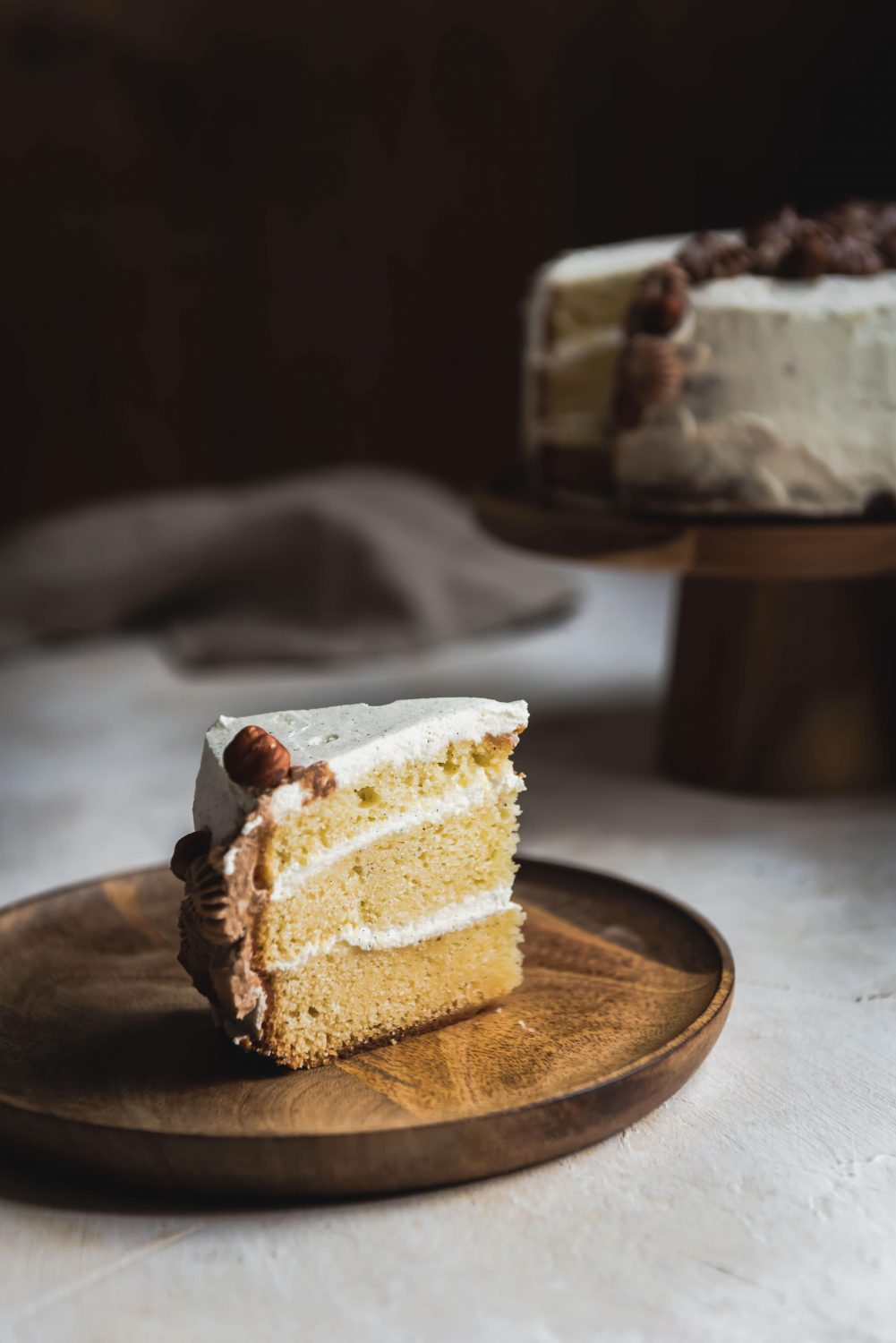 Layer cake vanille et gianduja
