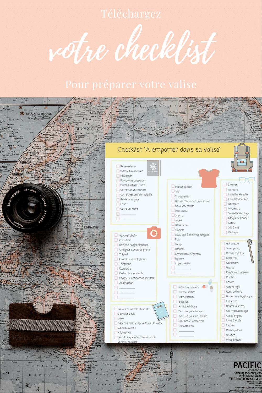 Checklist pour préparer sa valise en voyage