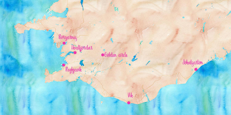 Itinéraire 1 semaine en Islande - Les recettes de Mélanie