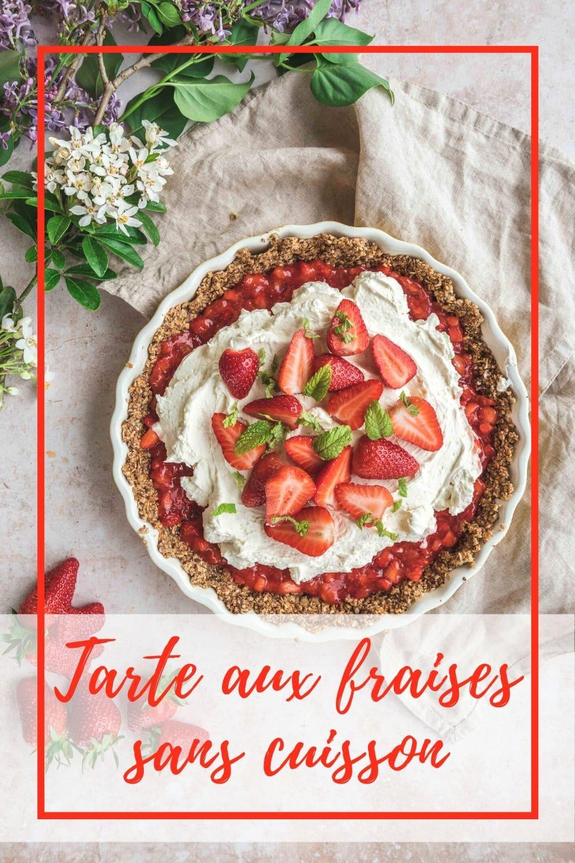 Une tarte aux fraises sans cuisson et sans gluten mais certainement pas sans goût. Les fraises sont associées à la menthe et au mascarpone pour une recette très gourmande.