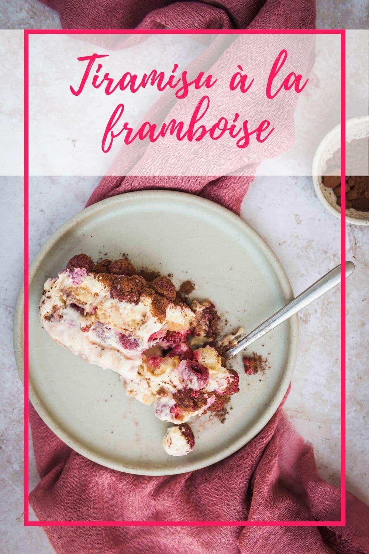 Ce tiramisu à la framboise est un dessert qui passe toujours tout seul même après un repas copieux.