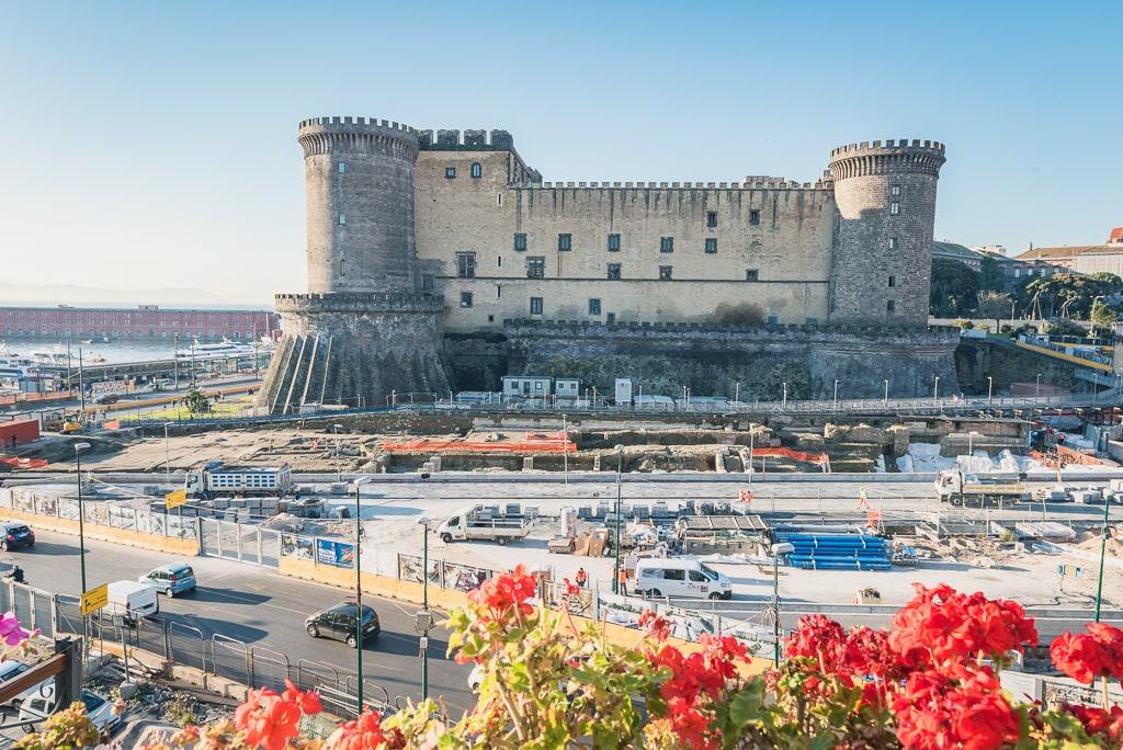 La vue de notre hôtel à Naples