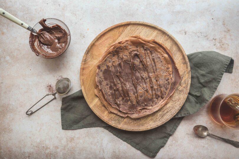 Des crêpes 100% chocolat fines et moelleuses pour le goûter de toute la famille.