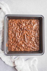 le brownie après cuisson