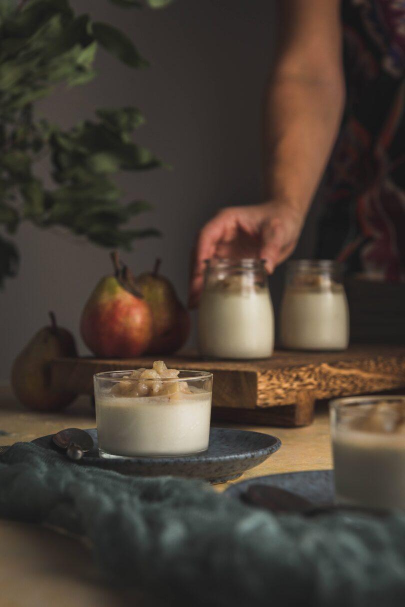 Cette panna cotta ravira les amateurs de sucré/salé. Le gorgonzola se marie à merveille avec la poire. La verrine peut se servir en entrée, à l'apéritif ou entre le plat et le dessert.
