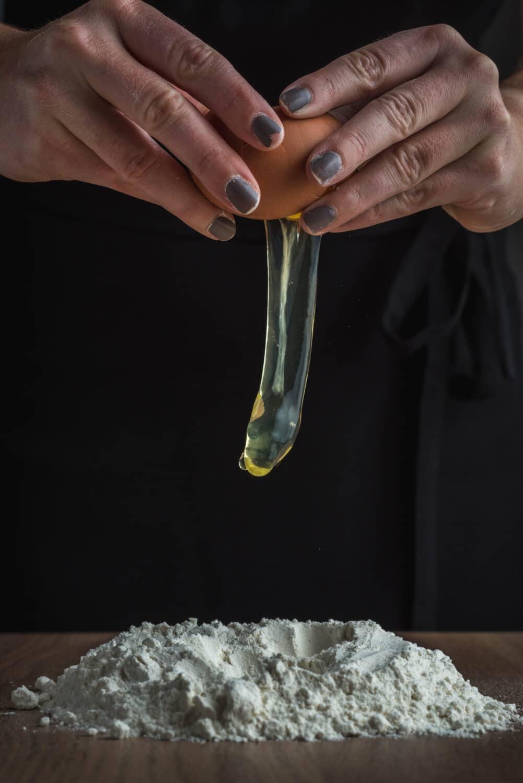 Préparation de la pâte à pâtes