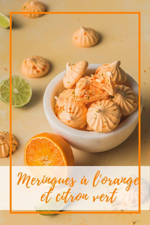 Une recette de meringues à l'orange et au citron vert à la fois croquantes et moelleuses. A personnaliser au parfum de votre choix.